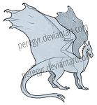 Pern Dragon Template - Blue/Green/White