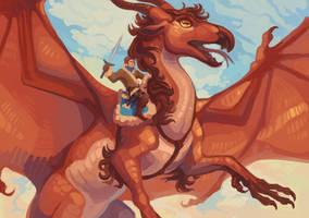 Dragonrider by peregyr