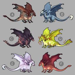 mini dragon adoptables 1 (closed) by peregyr