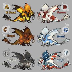 mini koi dragon adoptables (closed)