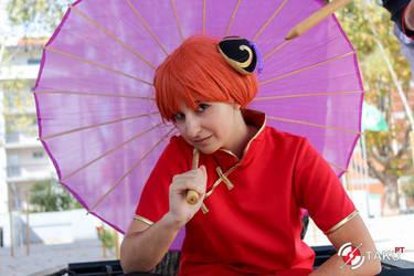Kagura cosplay - Gintama by Bunnyie