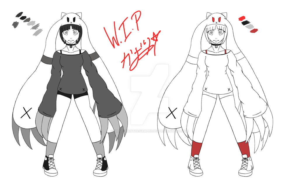 Character Design Color Scheme : Character design chibi color palettes wip by