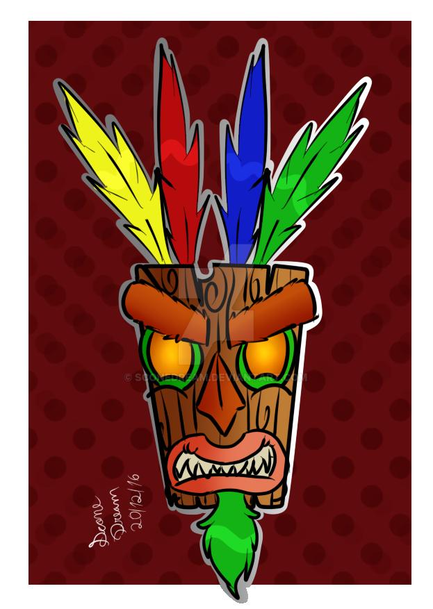 Aku Aku (Crash Bandicoot) by SconeDream