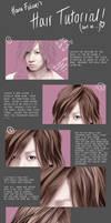 Realistic Hair Tutorial. by hanafubukiart
