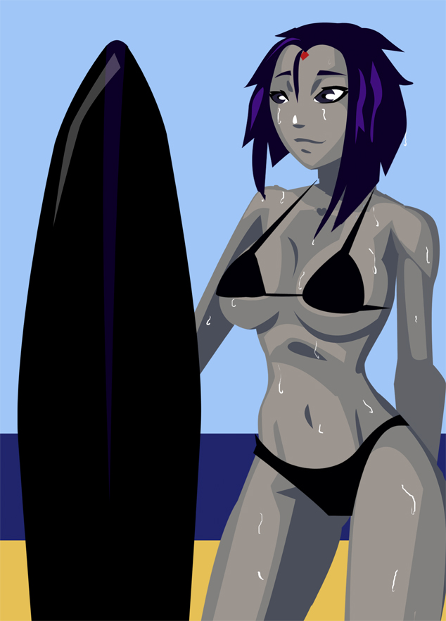 Surfer Raven by morganagod