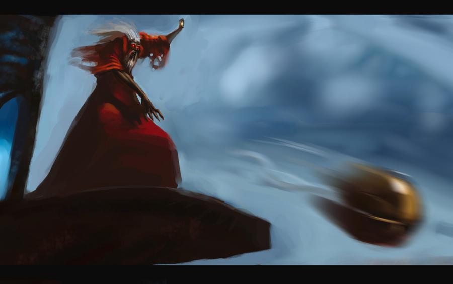 The Crimson King Attacks by morganagod