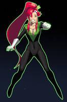 Green Lantern Yoko by morganagod