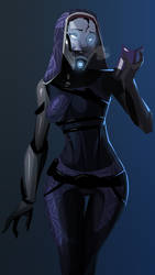 Tali - Minus the Mask by morganagod