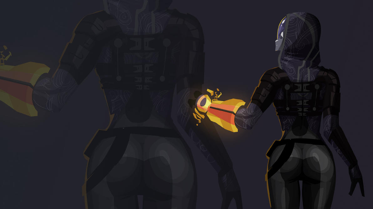 Tali's Ass Effect Wallpaper by morganagod