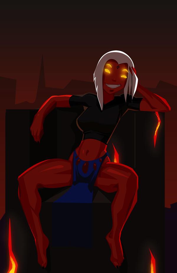 Demon Queen Raven by Dragon-FangX on DeviantArt