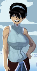 Older Toph Models the Latest in Watertribe Fashion by morganagod
