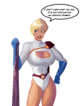 Power Girl - the breast cosplay