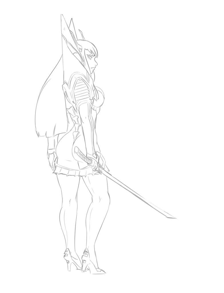 Satsuki Sketch by morganagod