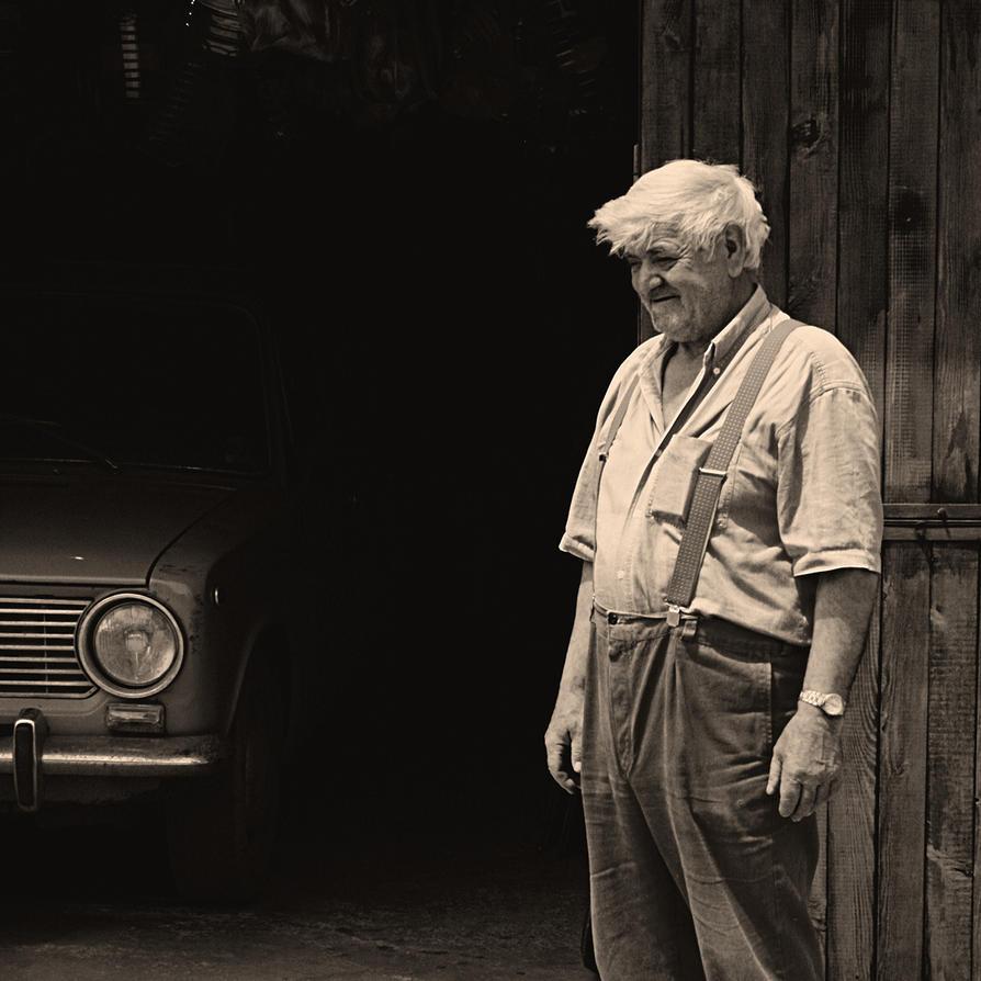 grandpa's portrait by koksuel