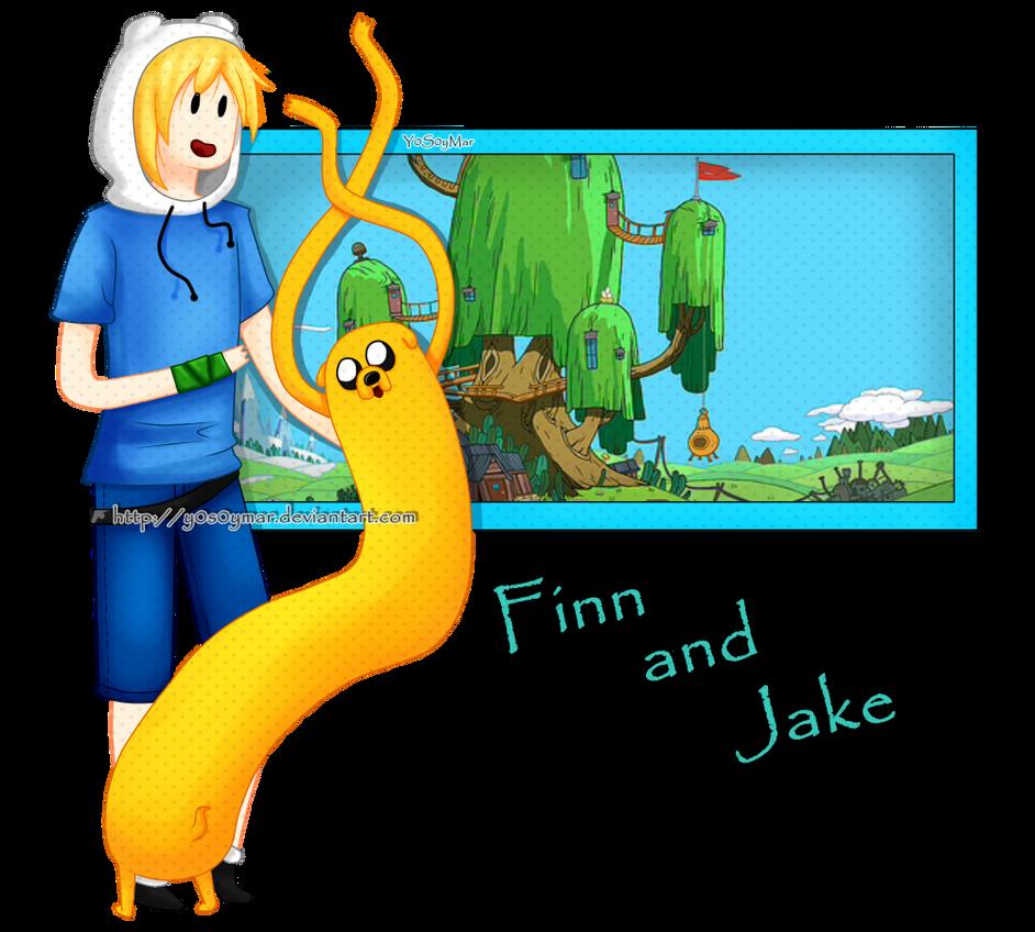 Finn and Jake by Pandi-Mar