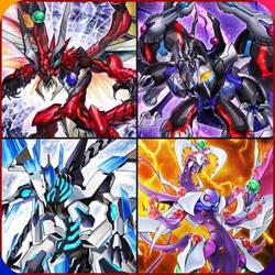 The 4 Odd-Eyes Dragons by greenman254