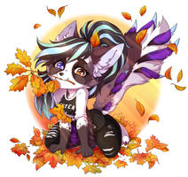 Playing with leaves by AnnetPeas