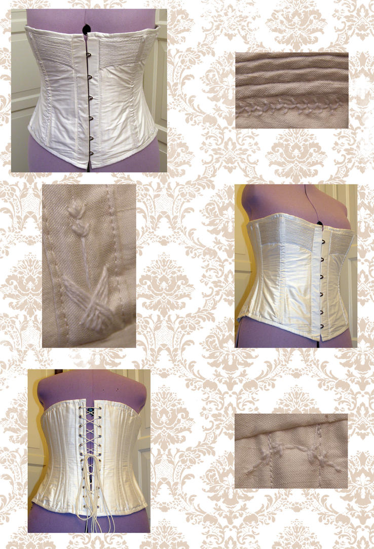 white victorian corset by AFahrbach