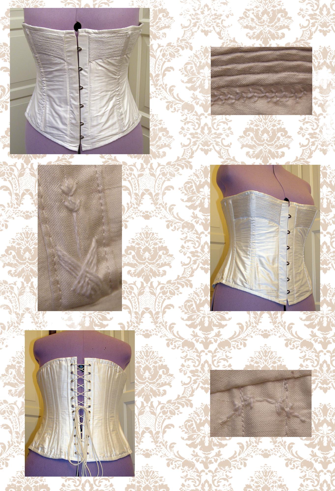 white victorian corset by Gewandfantasien