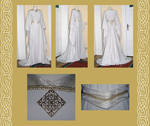 Elaine bridal medieval gown