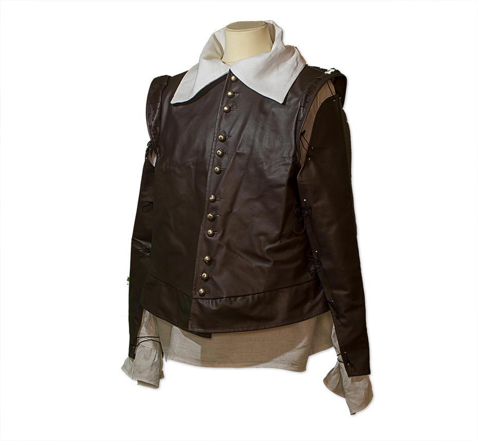 Musketeer Doublet in brown leather by Gewandfantasien