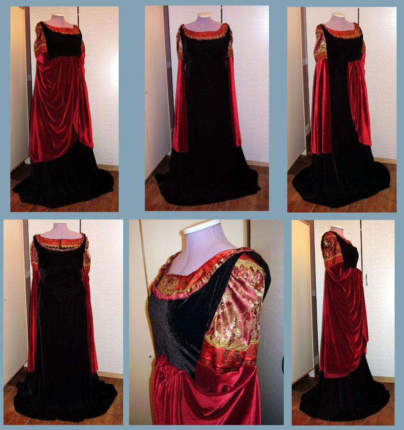Arwen Blood red gown by Gewandfantasien on DeviantArt
