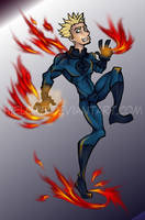 Johnny Storm - Human Torch by hielorei