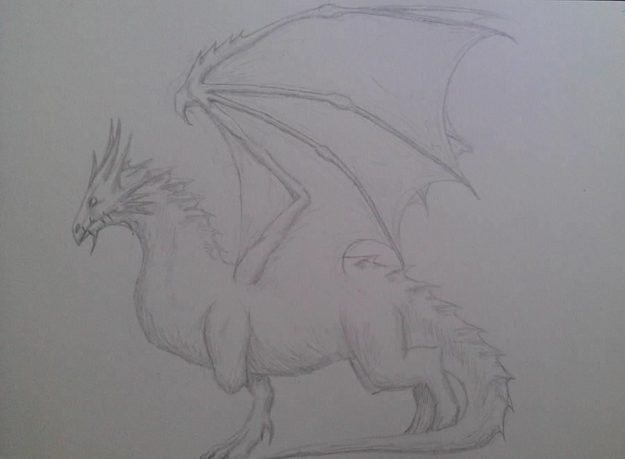 Sketches Glaedr_by_impraxoris-d4ulvgi
