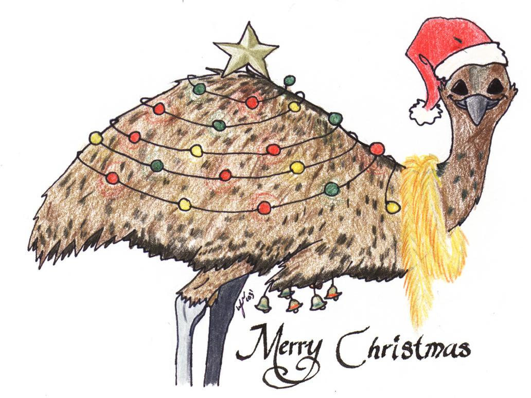 Aussie Christmas Cards - Emu by Heather-Briana on DeviantArt
