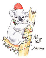 Aussie Christmas Card - Koala by Heather-Briana