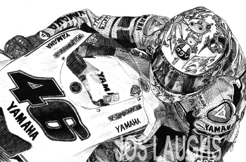Valentino Rossi Valencia '05 by Heather-Briana