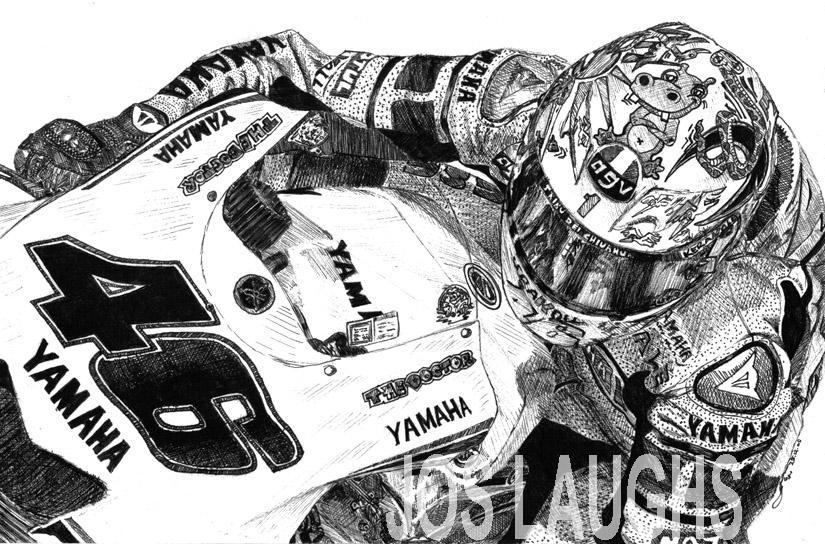 Valentino Rossi Valencia '05 by Heather-Briana