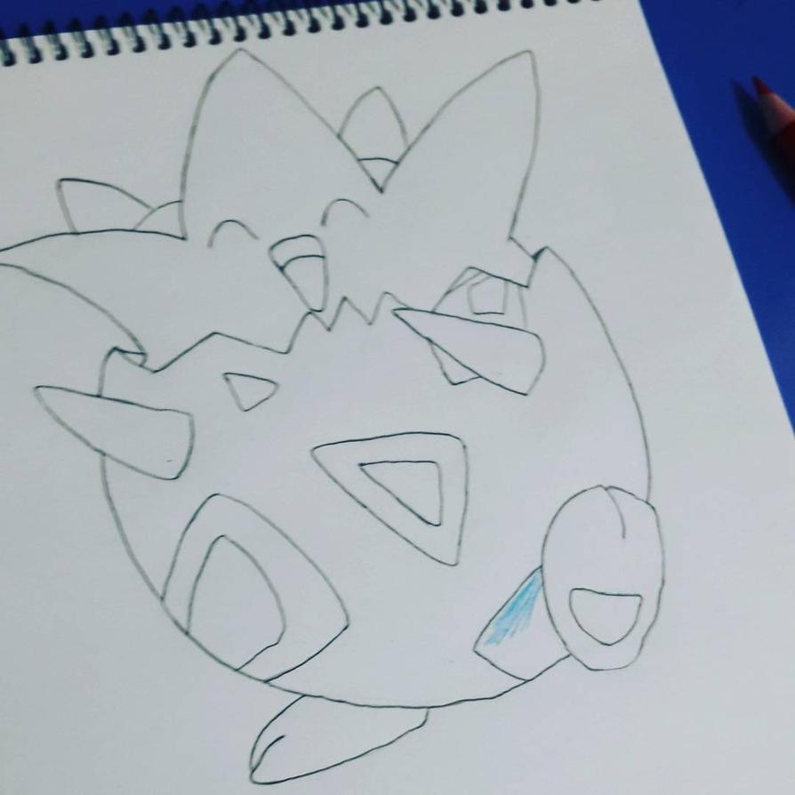 Pokemon Drawing - Togepi by mifer600