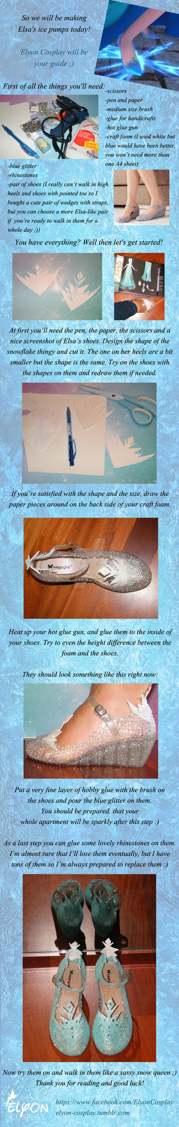 Elsa shoes tutorial by Szaloncukor