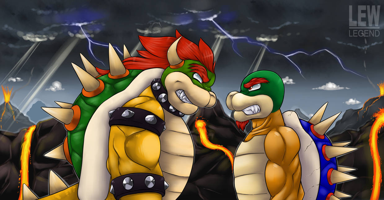 Stare Down with King Koopa