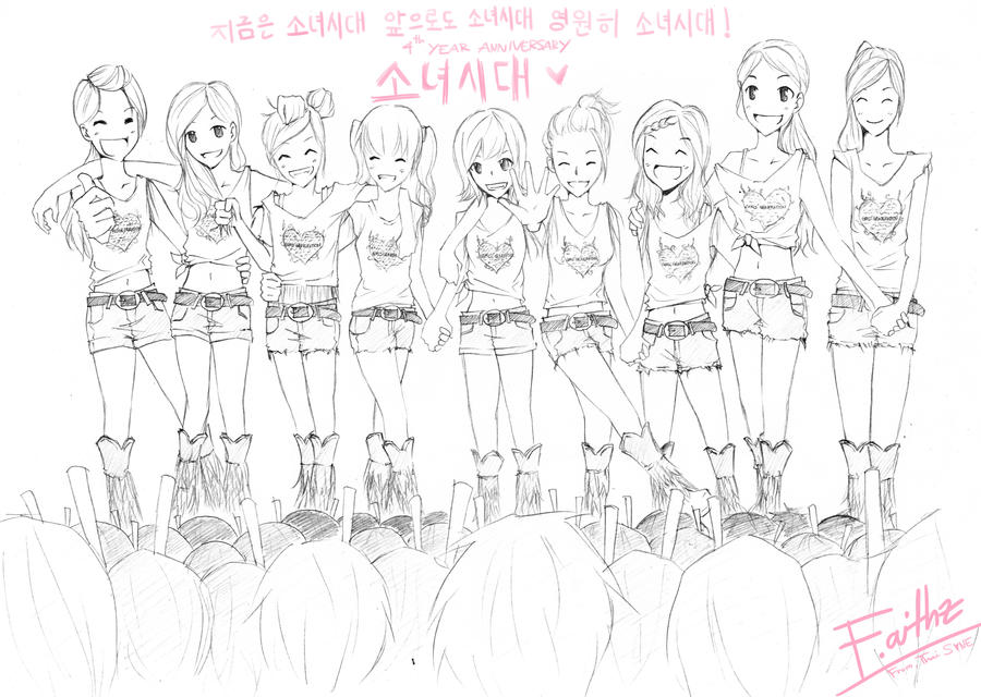 Snsd Coloring Pages Coloring Pages Coloring Pages Kpop