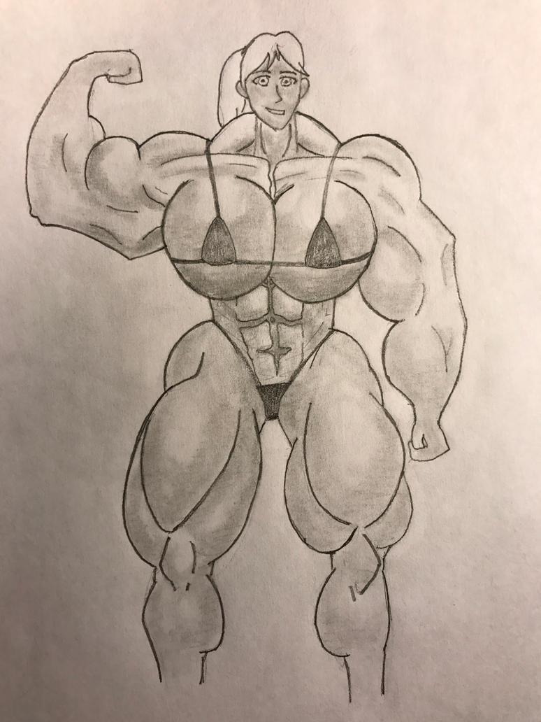 Muscle Growth Muscle Girl #2 by Isildursbane