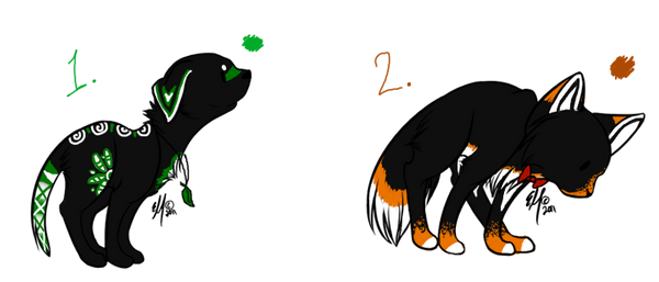 Three Colored Canine Adoptables (Closed)
