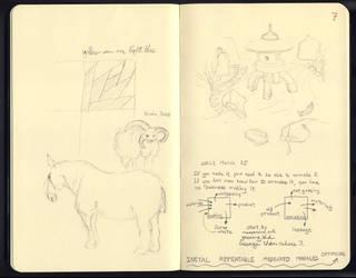 daily sketch: journal page by ciradrak