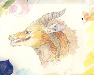 brown dragon by ciradrak
