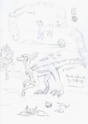 daily sketch: raptor by ciradrak
