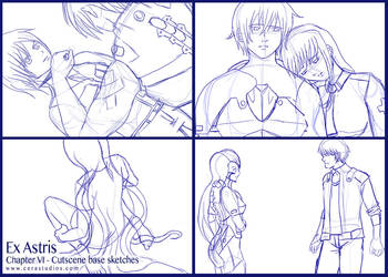 Ex Astris - Ch.6 Cutscene sketches by Cera-L-Hendry