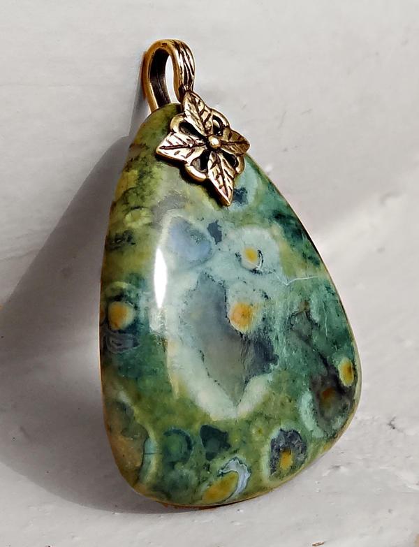 Rain Forest Jasper Pendant by par-me
