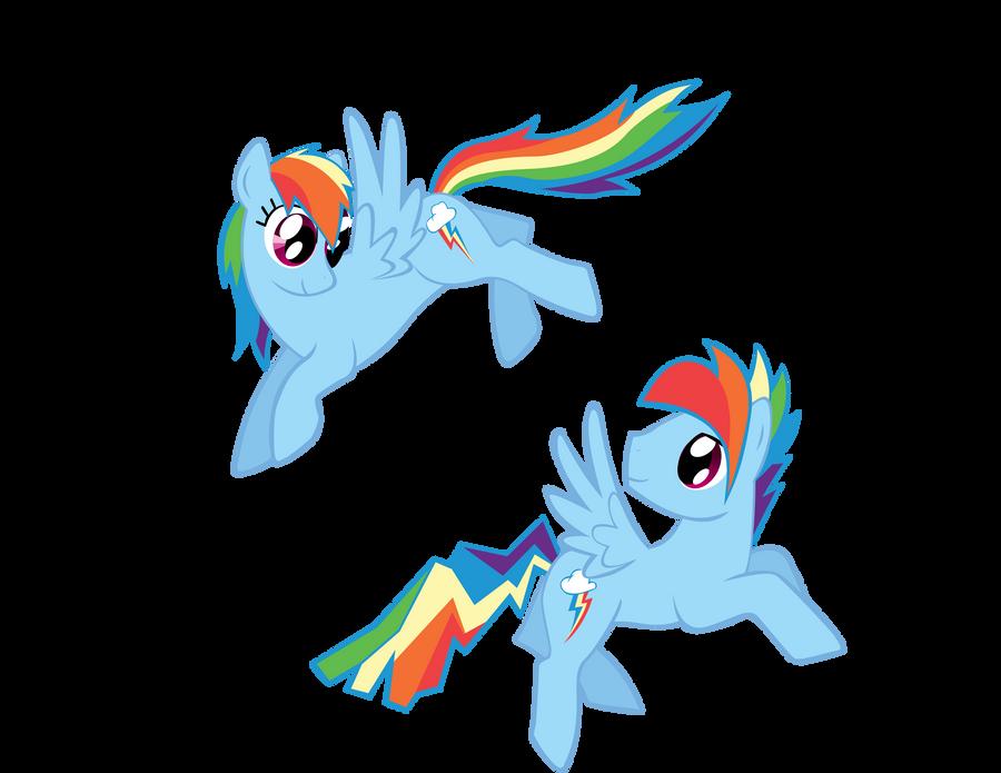 rainbow dash and rainbow blitz vector by keeveew