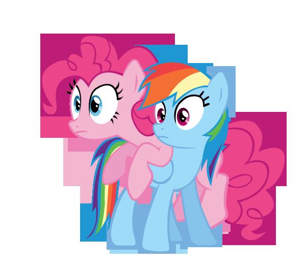 Rainbow dash and Pinkie pie vector by keeveew on DeviantArt