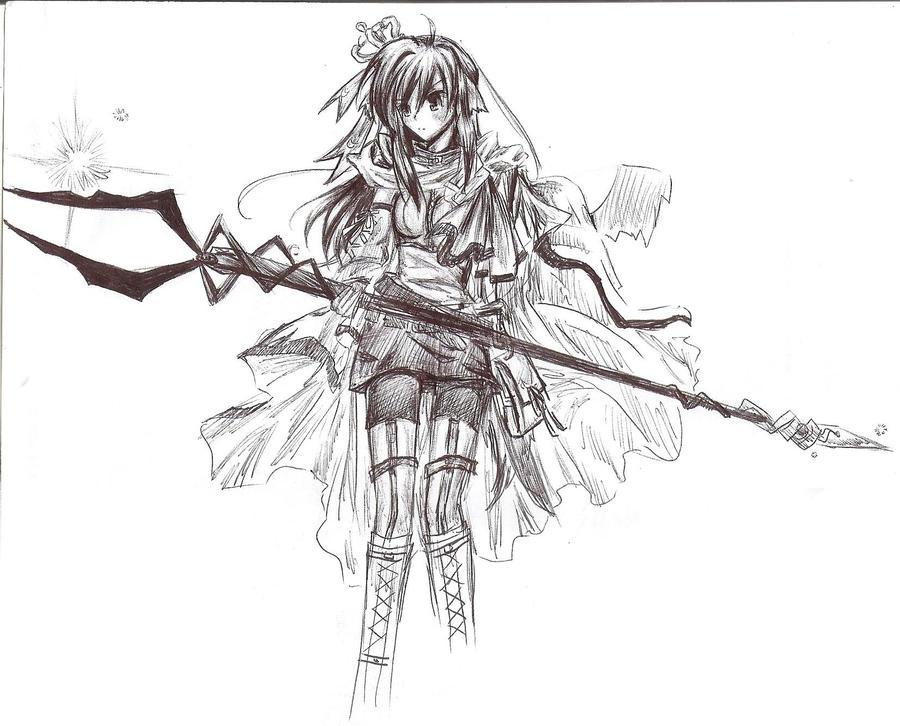 Anime demon warrior by Kimmiku on DeviantArt