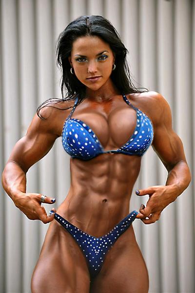 Morphed female bodybuilders