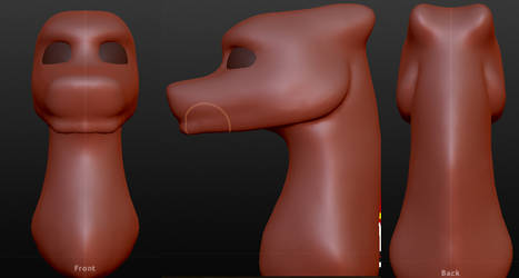 Male dragon head model (Please Critique!) by Dantedragon