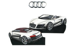 Audi R8 spider by Frenchtouch29