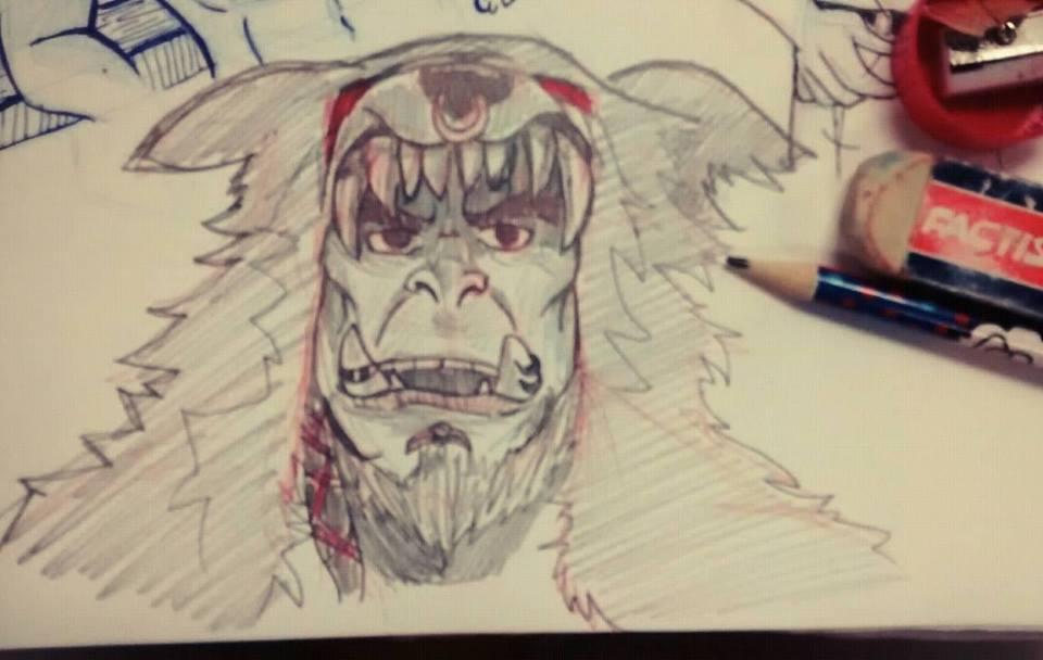 Durotan Pencil sketch by vikhop
